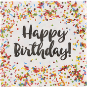 Party Creations Napkins, HBD Sprinkles, 2-Ply