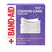 Band-Aid Brand Of First Aid Products Cushion-Care Gauze Pads, 4 Inches By 4 Inches