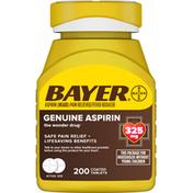 Bayer Aspirin, Genuine, 325 mg, Coated Tablets
