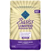 Blue Buffalo Basics Limited Ingredient Diet, Natural Adult Dry Dog Food, Turkey & Potato
