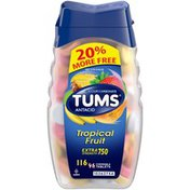 Tums Extra Strength 750 Assorted Tropical Fruit Chewable Tablets Antacid