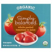 Simply Balanced Tomatoes, in Juice, Organic, Whole, Peeled