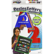 ArtSkills Poster Letters & Numbers, Sparkle, Repositionable