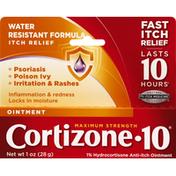 Cortizone 10 Anti-Itch Ointment, Maximum Strength, Water Resistant Formula