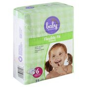 Baby Basics Diapers, Flexible Fit, Size 6 (35 lb & Over)