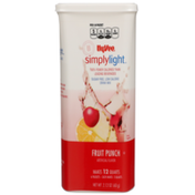 Hy-Vee Simplylight, Fruit Punch Sugar Free, Low Calorie Drink Mix