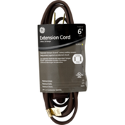 GE Extension Cord Indoor Brown 6'