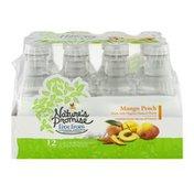 Nature's Promise Unsweetened Water Beverage Mango Peach - 12 PK