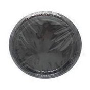 First Street Touch Of Color Black Velvet Plastic Plate, 7 Inch