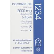 Creative Bioscience Coconut Oil, 2000 mg, Softgels