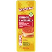 Lunchables Pepperoni & Mozzarella Cheese with Crackers Snack Kit