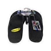 Telic Arch Support Pain Relief Energy Flip Flops - Midnight Black  - 2XL