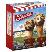Friendly's Nuts Over Caramel Sundae Ice Cream Cones