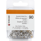 Singer Assorted Safety Pins
