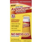 Aspercreme Pain Relieving Gel, Warming, Odor Free