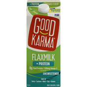 Good Karma Flax Milk, Unsweetened, + Protein
