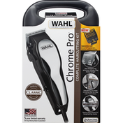 Wahl Haircutting Kit, Complete, Chrome Pro