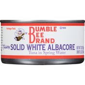 Bumble Bee Tuna in Spring Water, Albacore, Solid White, Heritage Pack