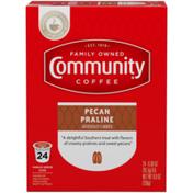 Community Coffee Pecan Praline Coffee Pods for Keurig K-cups