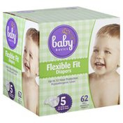 Baby Basics Diapers, Flexible Fit, 5 (27 lb & Over)
