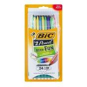 BiC Xtra-Fun Pencil Stripes - 24 CT