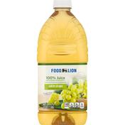 Food Lion 100% Juice, White Grape