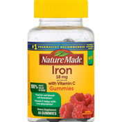 Nature Made Iron, 18 mg, Gummies, Raspberry