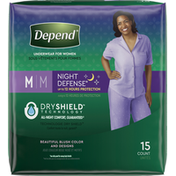 Depend Incontinence Underwear for Women, Overnight