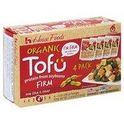 House Foods Tofu, Organic, Firm, 4 Pack