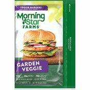 Morning Star Farms Veggie Burgers, Plant Based Protein, Garden Veggie