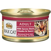 Nutro MAX CAT Adult with Savory Duck Chunks in Sauce Cat Food