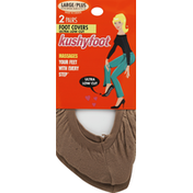 Kushyfoot Foot Covers, Ultra Low Cut, Large/Plus, Nude