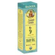 Badger Baby Oil, Calming, Chamomile & Calendula