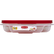 Rubbermaid Container + Lid, Divided, 5.3 Cups