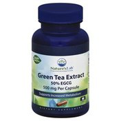 Natures Lab Green Tea Extract, 500 mg, Capsules