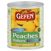 Gefen Peaches, Halves, Yellow Cling, in Light Syrup
