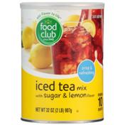 Food Club Iced Tea Mix With Sugar & Lemon Flavor