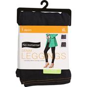 No nonsense Leggings, Denim, Dark, XL