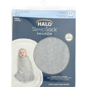 Halo Swaddle, Small, Heather Gray Cotton, 3 to 6 Months