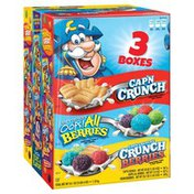 Cap'N Crunch Sweetened Corn & Oat Cereal Variety Pack