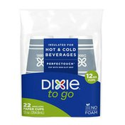 Dixie To Go Paper Coffee Cups (no lids), 12 oz Disposable Hot Cups