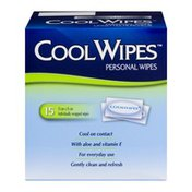 Cool Wipes (CN) Cool Wipes Personal Wipes - 15 CT, Cool Wipes Lingettes Fraicheur - 15 CT