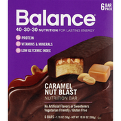 Balance Bar Nutrition Bar, Caramel Nut Blast