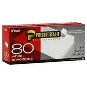 Mead Envelopes, White, Press-It Seal-It