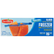 Our Family Freezer Bags, Quart Size Slider