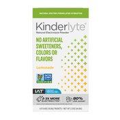 Kinderlyte Natural Oral Electrolyte Powder Lemonade