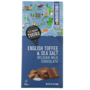 Culinary Tours English Toffee & Sea Salt Belgian Milk Chocolate