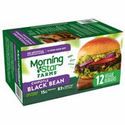Morning Star Farms Veggie Burgers, Plant Based Protein, Chipotle Black Bean