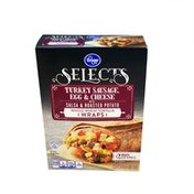 Kroger Selectable Turkey Sausage Egg & Cheese Salsa & Roasted Potato Whole Wheat Tortilla Wraps