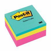 3M Post-it® Notes Cube, 3 in x 3 in, Pink Wave, 400 Sheets/Cube